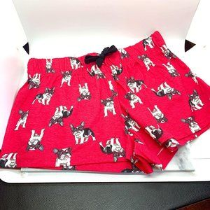Forever 21 Red Frenchie Pajama Boxer Bottoms XS